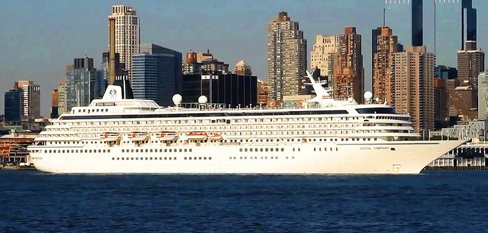 Manhattan with Crystal Cruises ship in the front