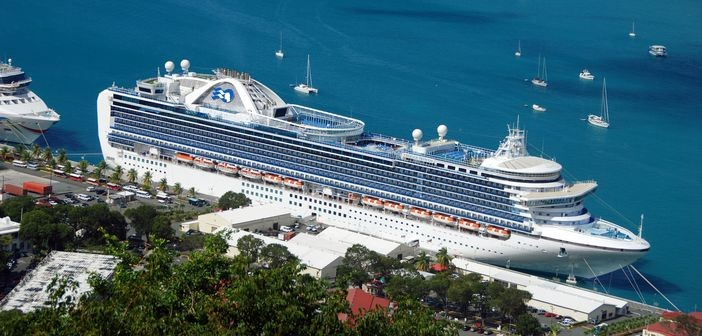 Princess Cruises ship Emerald in St.Thomas