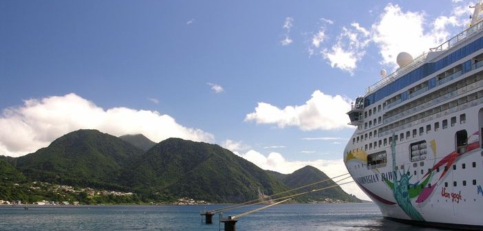 NCL ship in the Caribbean