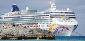 Norwegian Cruise Line ship in the Bahamas