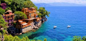 Scenic view of Portofino village: Cruise to the Mediterranean