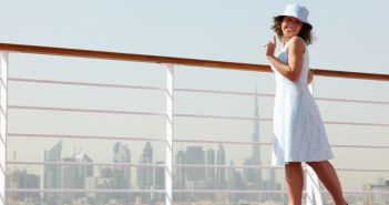 Crystal Serenity Cruise Ship: Woman enjoying her vacation