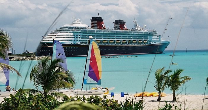 Docked in Castaway Cay, Disney's private island