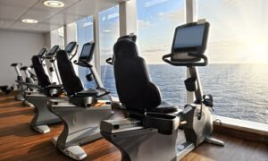 Gym on a cruise ship