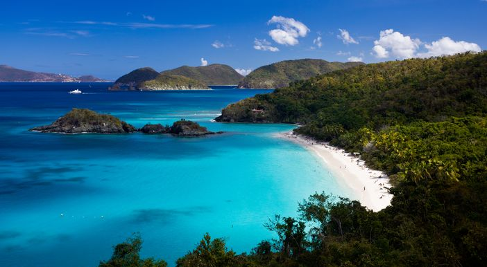 Trunk Bay at St John, US, Virgin Islands, is frequently listed among the top 10 beach destinations in the world