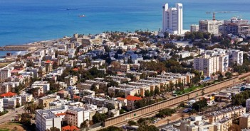 Popular cruise destinations: Panoramic view of the city and coastline of Haifa