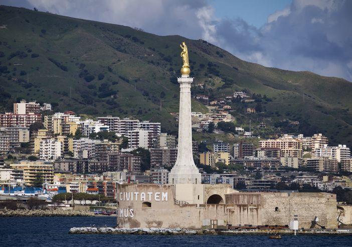 Best Mediterranean cruise to Messina: Golden statue of Madonna