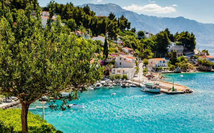 Cruise the mediterranean: Beautiful bay at the Adriatic Sea, Split, Croatia