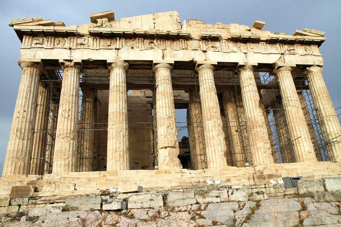 famous historical monuments in Europe: Parthenon in Acropolis, Athens, Greece