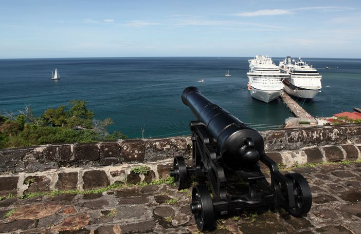 Fort Frederick, located on the south-western peninsula of Grenada