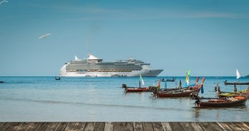 Far East Destinations to go: Patong, Phuket,Thailand. Boats and Royal Caribbean cruise ship