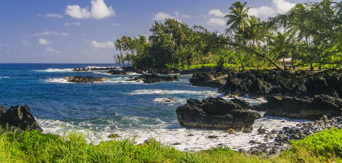 Honeymoon cruise destinations: Hawaii - Volcanic rocks at the coast of Maui