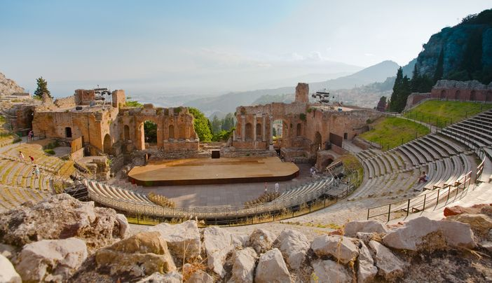 Taormina attractions: Teatro Greco