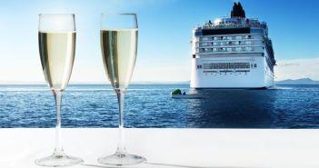 Celebrating honeymoon onboard