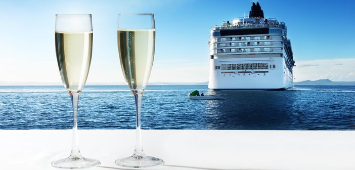 Celebrating honeymoon onboard