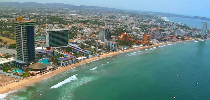 View of the coast of Mazatlan