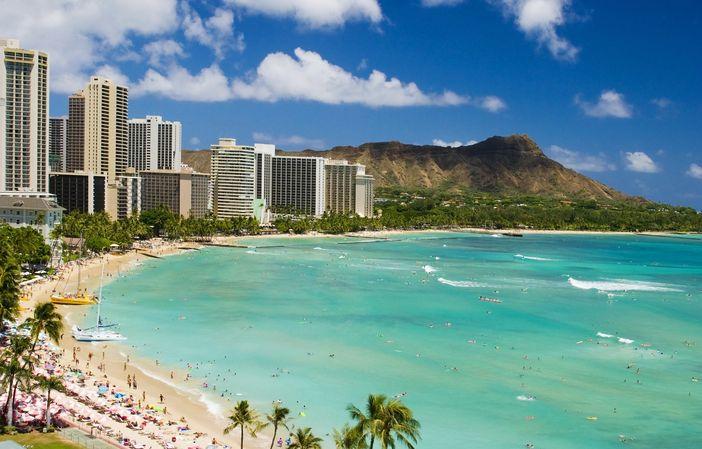 Waikiki beach and Diamon Head