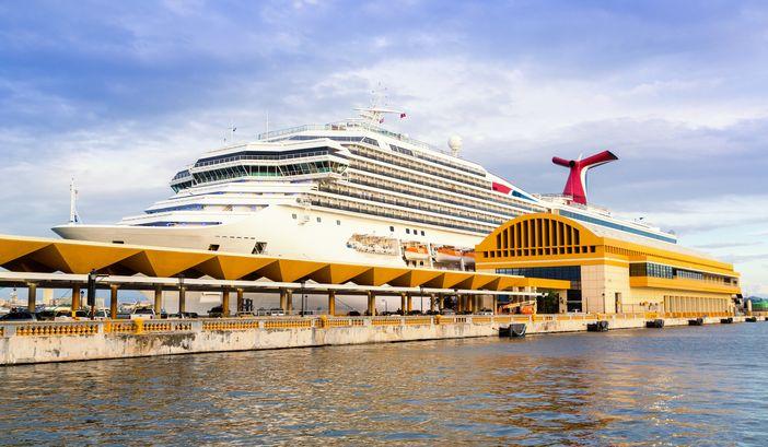 Cruise ship dock in San Juan, Puerto Rico