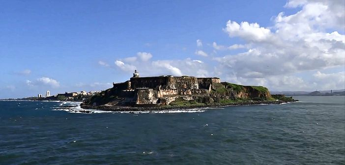 View of San Juan fortress from the sea