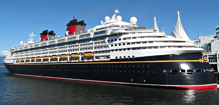 Disney Cruise Line ship in Vancouver, Canada