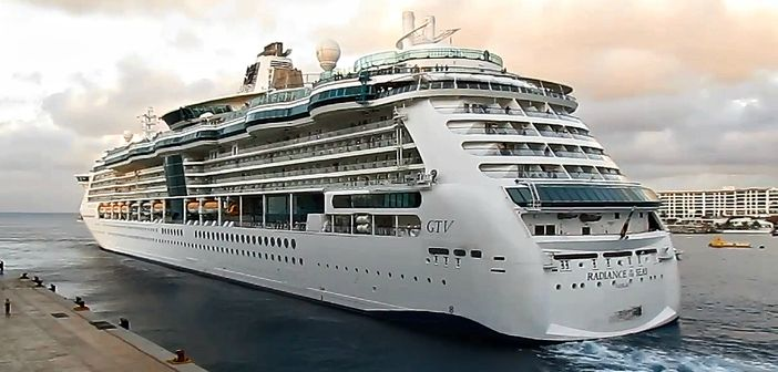 Royal Caribbean ship stopped at Cozumel, Mexico