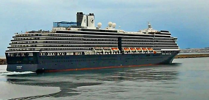 Holland America ship leaving for a 7 day Alaska cruise from Vancouver