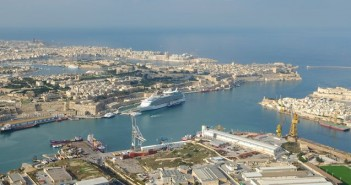 Aerial view of Valletta Grand Harbour