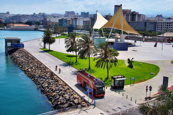Hop-On Hop-Off bus tour is one of the best things to do in Las Palmas