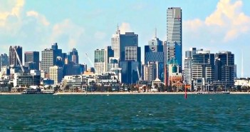 The skyline of Melbourne city, Australia