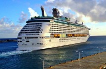 Explorer of the Seas leaving the Caribbean island, St. Maarten