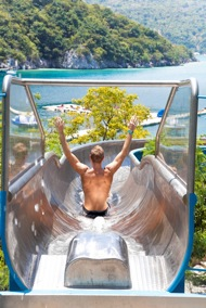 Waterslide in Labadee