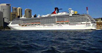 Cruise with Carnival: Carnival Legend leaving Sydney