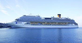 Costa Diadema docked in Trieste, Italy