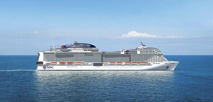 MSC Bellissima at sea
