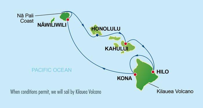 Pride of America 7-day Hawaii cruise itinerary